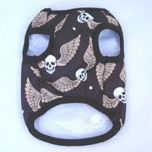 Black Polyester Wing Skull Clothing