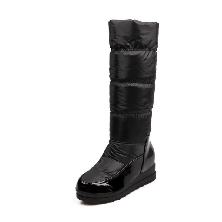 Winter Boots Women Warm Knee High Boots Ladies Thick Plush Down Snow Boots Platform Shoes Woman Footwear