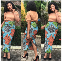 African Clothes for Women Batik Cotton African Print Skirts for Women Mid Calf Dashiki Plus Size African Clothing