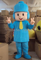 Blue Pocoyo Mascot Costumes For Advertising Free Shipping Adult Size