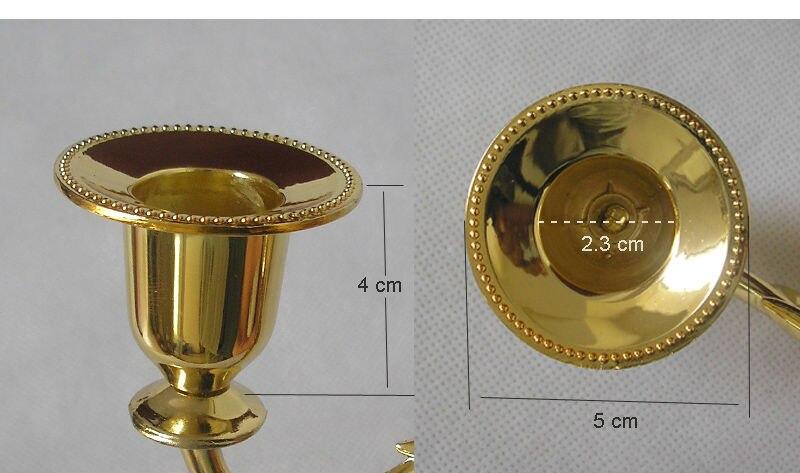 μοντέρνο χέρι 5 χρυσό κάτοχος κερί - Διακόσμηση σπιτιού - Φωτογραφία 5