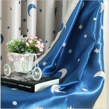( Single Panel ) Modern Hooking/Eyelets Children Curtains Star Window Curtain Decoration Draperies Living Room Bedroom Cortina(China)