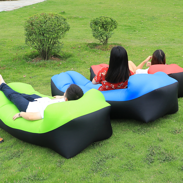inflatable lawn chair cheap folding covers camping lazy bag air sofa laybag sleeping adult beds lounge fast nylon