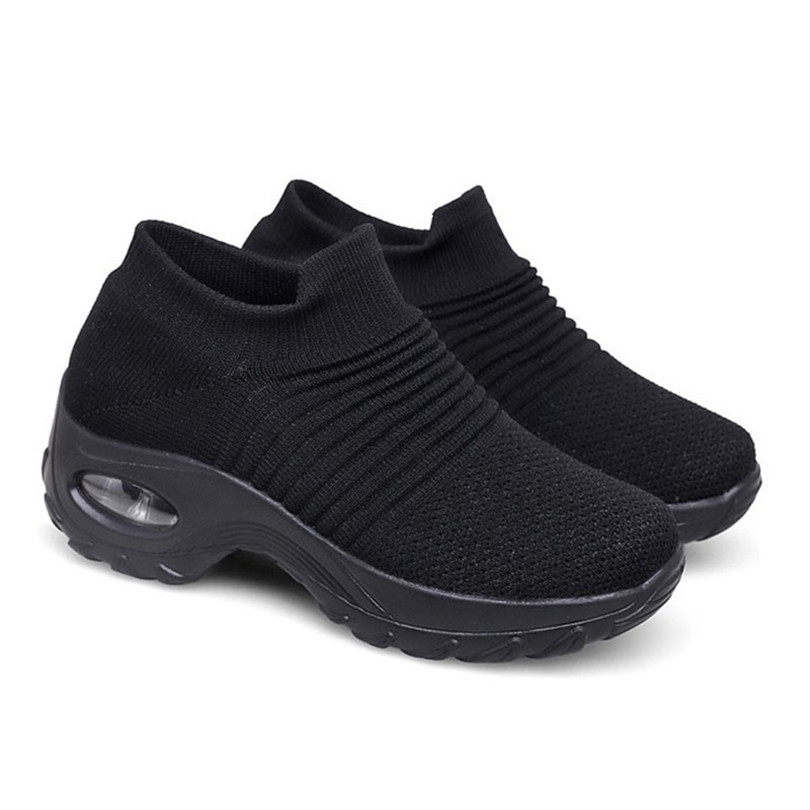LIN KING Woman Casual Shoes Breathable Women New Arrivals Fashion Mesh Vulcanized Sneakers Height Increase Shoes Plus Size 35-43