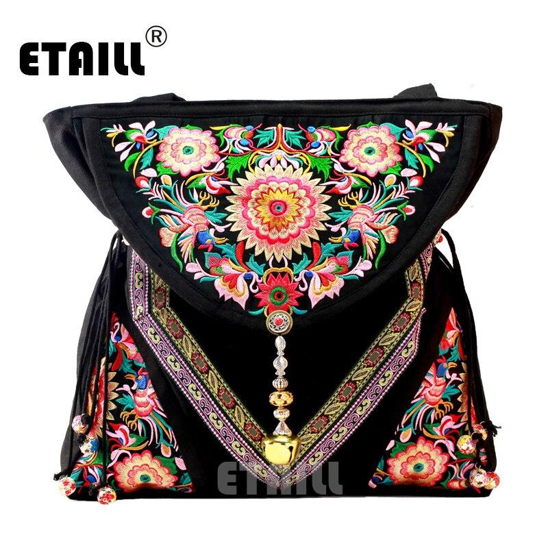 Vintage indien perlé Bolso Boho brodé thaïlande Sac à main femmes marque sacs de luxe Logo épaule Shopper Sac à Dos Femme