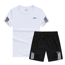 2019 New Soccer Jersey Sports Costumes Suits Basketball Training Shirt Fitness Men Gym Summer Clothes Sets