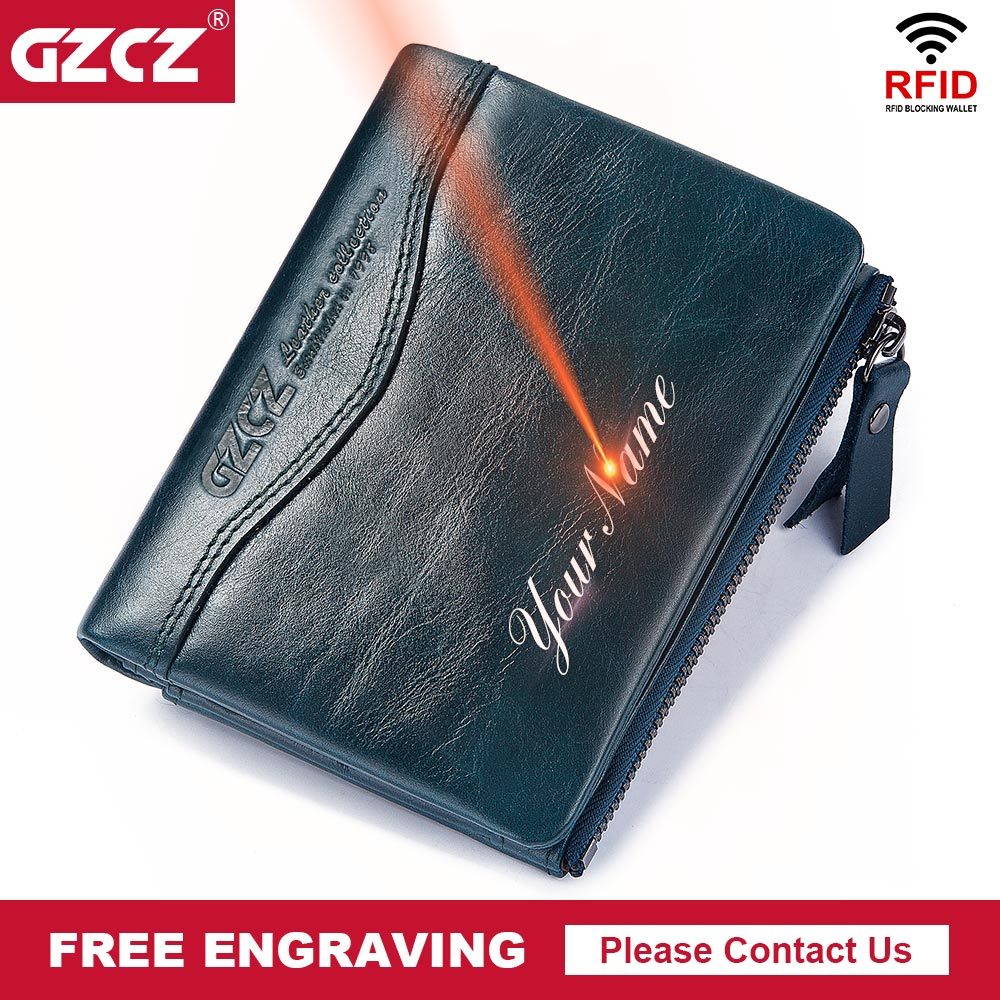 GZCZ 100% Genuine Leather Men wallet PORTFOLIO Male Vintage Purse High Quality Male Coin Purse Pocket Money Bag Free Engraving  GZCZ 100% Genuine Leather Men wallet PORTFOLIO Male Vintage Purse High Quality Male Coin Purse Pocket Money Bag Free Engraving