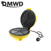 DMWD Electric Waffles Maker Heart Shape Waffle Egg Cake Oven Pancake Non stick Baking Pan Breakfast Machine Muffin Sandwich Iron