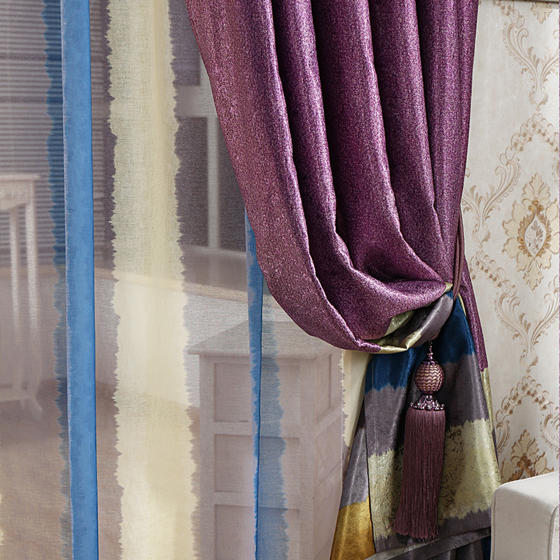 Painting curtains in watercolour curtain menzilperde net for Mona lisa shower curtain