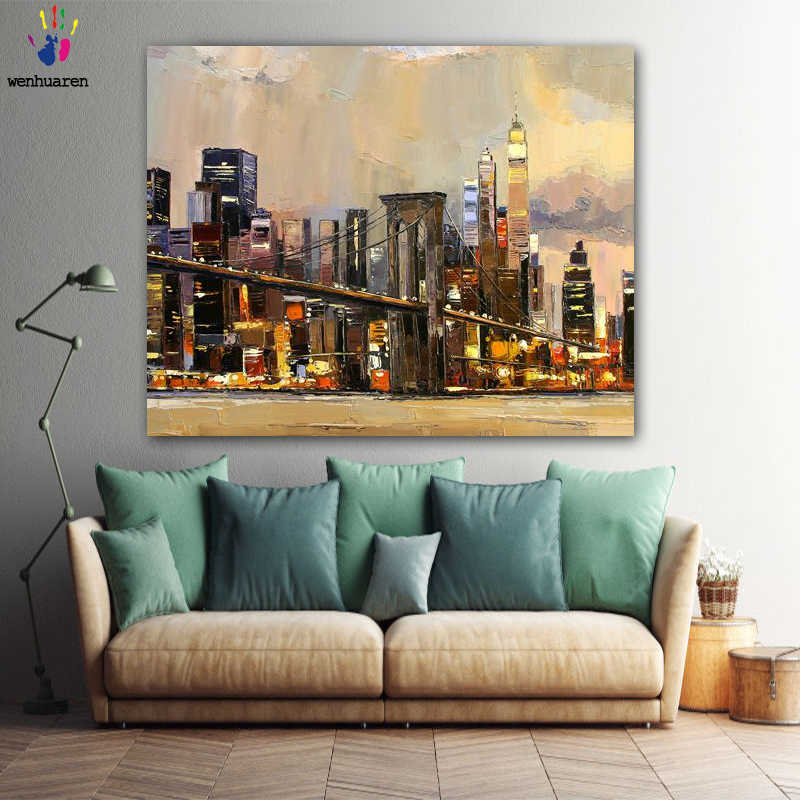 DIY colorings pictures by numbers with colors Prosperity of the city picture drawing painting by numbers framed