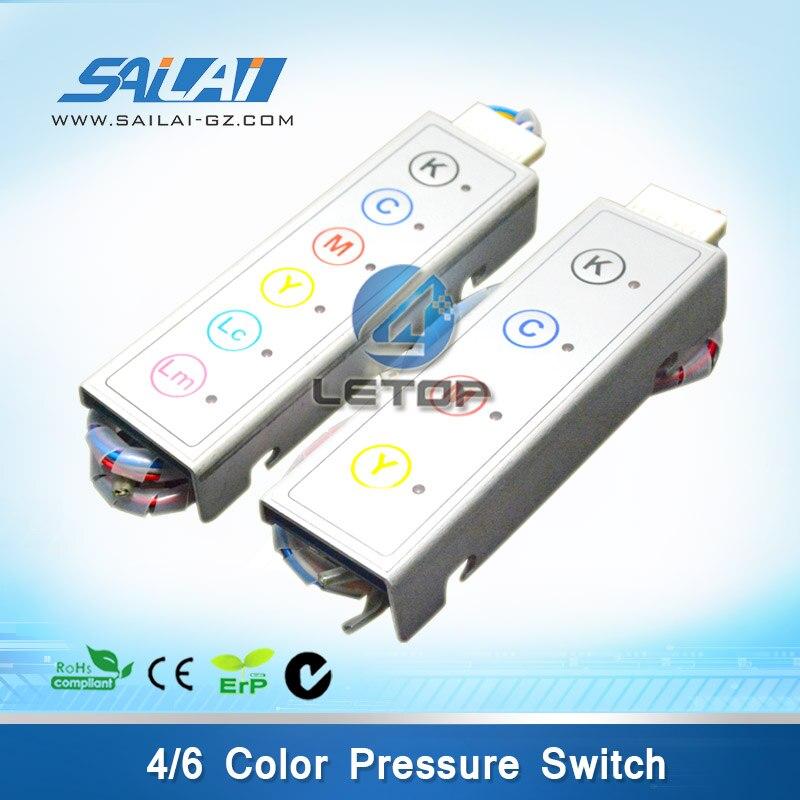 High Quality!!!infiniti 6 color new model pressure switch new model 6 color pressure switch for inkjet printer infiniti phaeton challenger gongzheng icontek machine