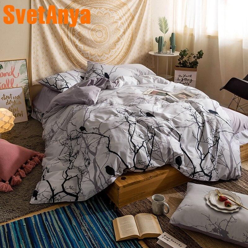 Svetanya Simple Bedding Set Cotton Sheet Pillowcase Duvet Covet Sets Bedlinen Eu Us Japan Au Ru Single Double Queen Full Size Bedding Sets