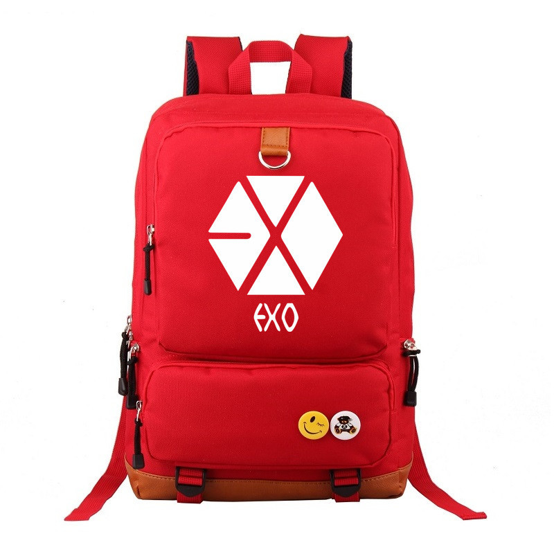 Bag Laptop School-Backpack Travelling Girls Fashion New EXO Gift Shoulders Periphery
