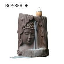 ФОТО rosberde buddha incense burner backflow home decor ceramic ornaments statue