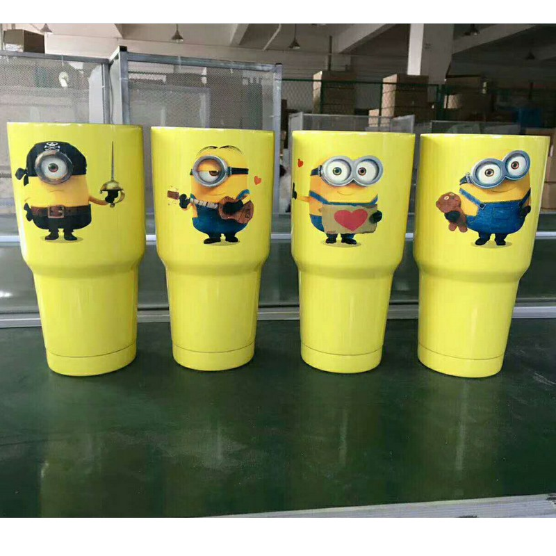 30OZ Yellow peopleTumbler Cup Vacuum Insulation Beer Wine Mug Stainless Steel Mug Coffee Cup Thermo Mug