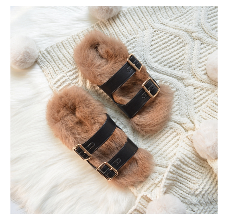 Chaussures 2019 Plats Pic D'été Talons Décontracté Slingbacks Appartements Pour Femmes En Chaussons As Dames Fourrure Cuir 1dwZrdxq