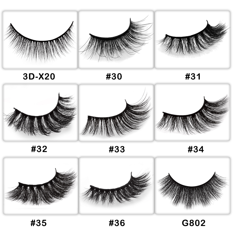 50 pairs private label wholesale natural false eyelashes 3d fake eye lashes makeup 3d mink lashes false mink eyelashes customize