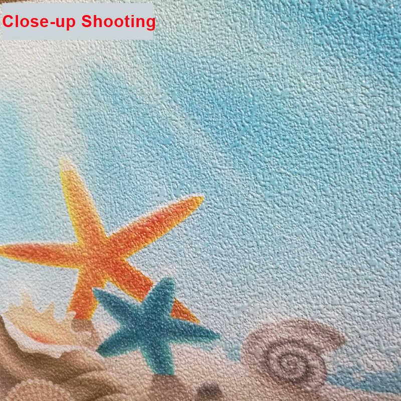 תמונה טפט מותאם אישית 3D סטריאו חוף ים נוף מרפסת קיר סלון רקע קיר תפאורה Papel דה פארדה 3D