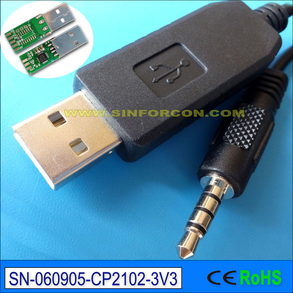 win7 8 10 Android Mac silabs CP2102 USB UART TTL 3.3v to 3.5mm ...