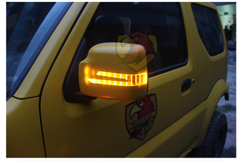 Side mirror cover for SUZUKI Jimny, Driving mirror cover, back mirror cover, with turn light and door light