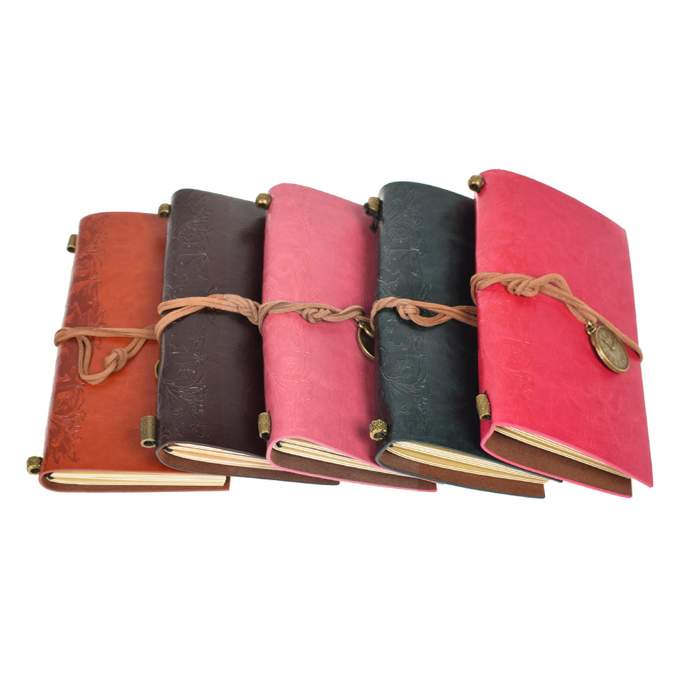 Hot Retro Classic Vintage Leather Bound Blank Pages String Journal Diary Notebook Sketchbook Gift Fighting Girl цена