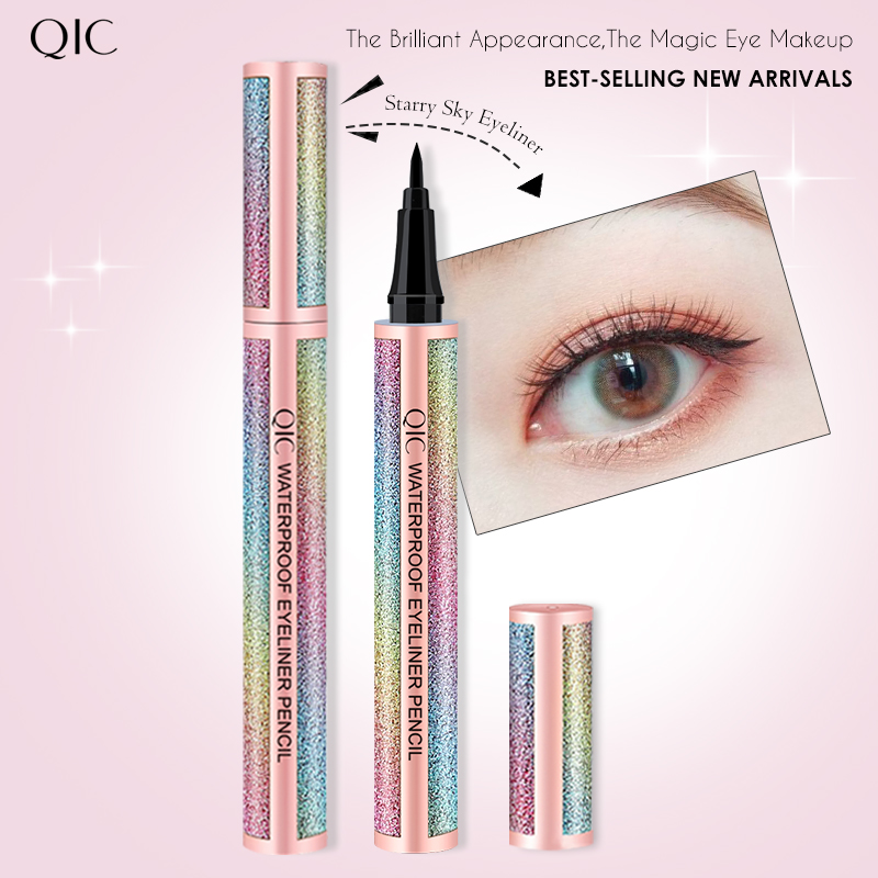 QIC Liquid Eyeliner Pen 24H Lasting Women Makeup Delineador De Ojos Smooth Waterproof Shinny Black Eye Liner Make up Maquiagem