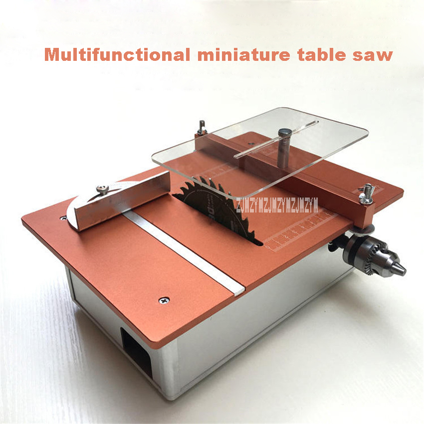 New Arrival Small Woodworking Table Saws Multifunctional Diy Desktop Cutter Mini Table Saw 12v