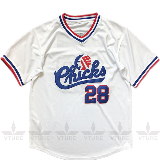 2f7a4539b2c Baseball Jersey  28 Bo Jackson Chicks Baseball Jersey White Movie Jersey  American Baseball Jersey Cheap