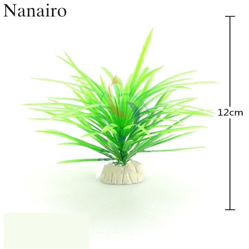 Artificial Plastic Plant Fake Narcissus Water Grass Fish Tank Aquarium Decor*TO