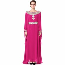 women Embroidery long sleeve muslim abaya dress gown Dubai moroccan Kaftan Caftan Islamic clothing Turkish arabic 15