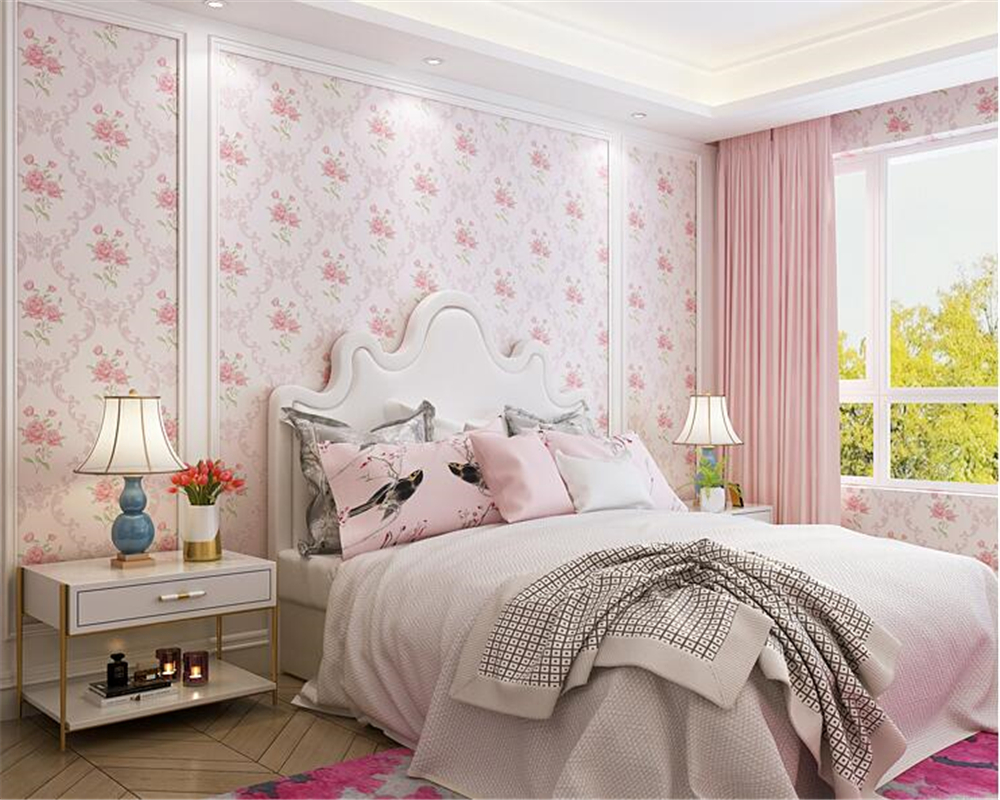 beibehang Pastoral 3d wallpaper Small Floral Nonwoven Warm ...