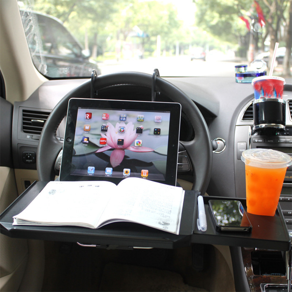 Car Cup Holder Portable Desk Steering Wheel Car For Suv Back Seat