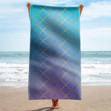 GNORRIS Custom Sand Free Microfiber Geometry rectangle Beach Towel Blanket - Quick Dry Super Water Absorbent Yoga mat