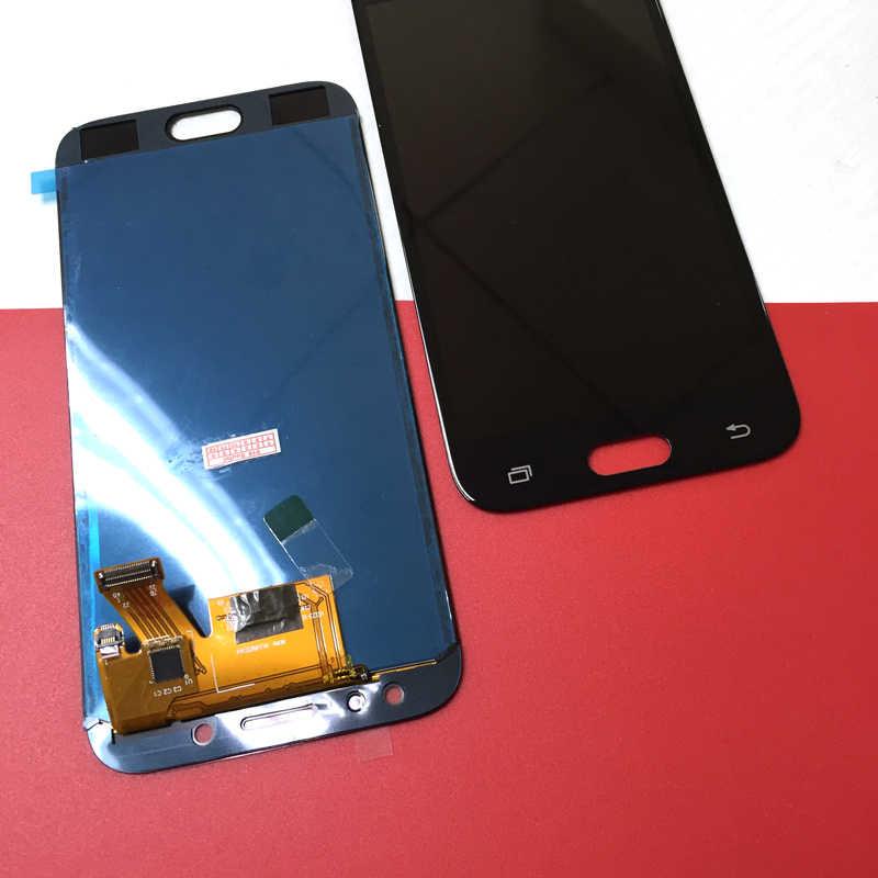 J530F LCD متوافق لسامسونج غالاكسي J5 2017 J530 J530F شاشة الكريستال السائل مع مجموعة المحولات الرقمية لشاشة تعمل بلمس