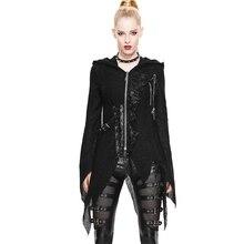 New Devil Fashion Spring Women Gothic Punk Fashion Jacket Slim Fit Irregular Long Sleeve Hooded Female Personality Jacket Coat