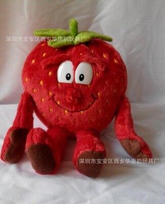 Детские мягкие игрушки детские развивающие игрушки красочные фрукты овощи 10-35 см Рождественский подарок - Цвет: strawberry