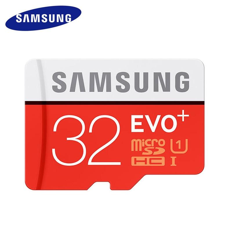 Original SAMSUNG Micro SD Card Memory Card EVO Plus 32GB Class10 TF Card C10 SDHC/SDXC UHS-I For Huawei P8 P9 P10 Smartphone