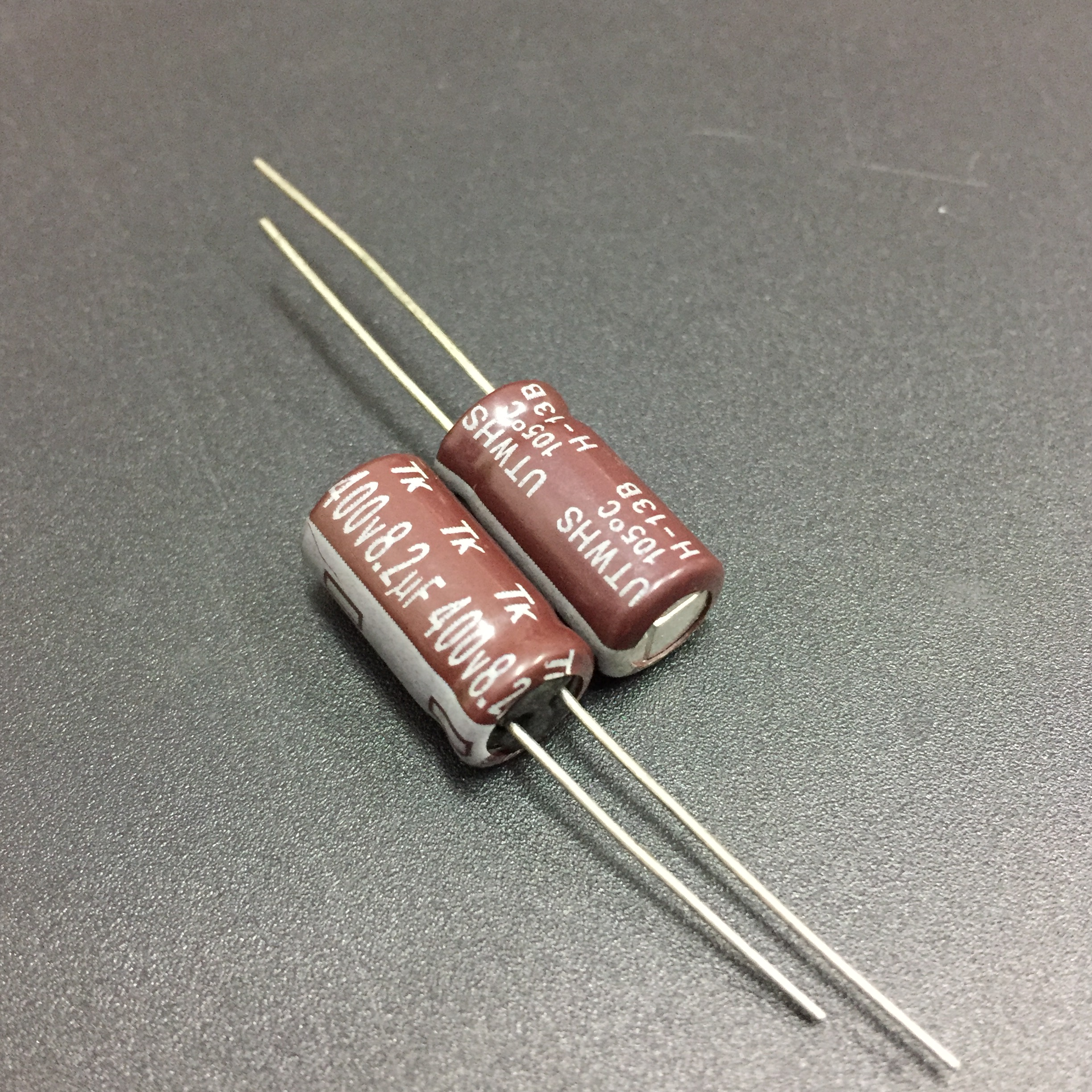 10pcs/100pcs 8.2uF 400V JAPAN TK UTWHS Series 8x15mm 400V8.2uF Aluminum Electrolytic Capacitors