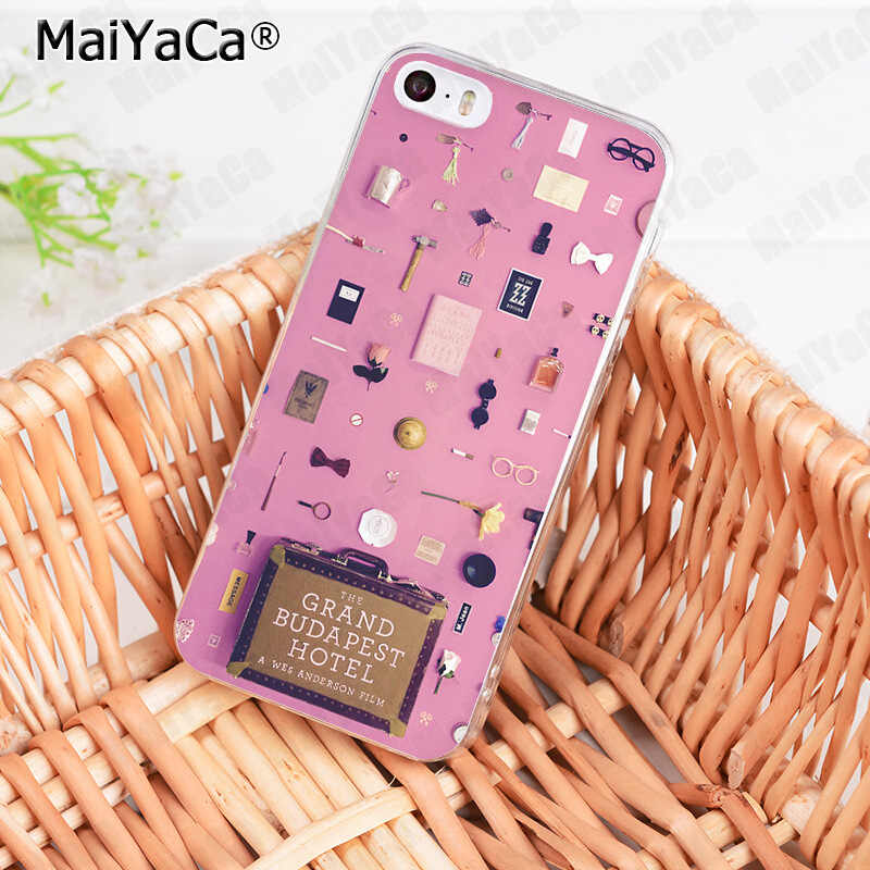 MaiYaCa Wes Grand Budapest Hotel design Coque Shell Phone Case for iphone 11 Pro 8 7 6 6S Plus X 10 5 5S SE XS XR XSMAX