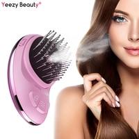 Portable Electric Ionic Hairbrush Nano Spray Negative Ion Comb Hair Scalp Massager Brush Hair Straightener Anti static Styling