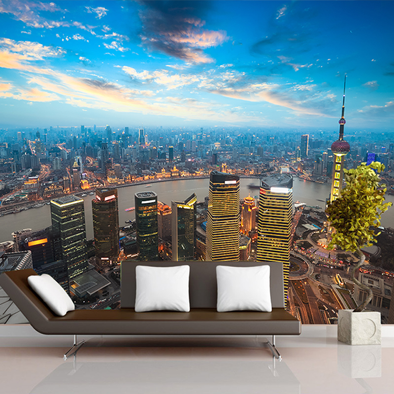 Custom 3D Photo Wallpaper Beautiful City Night Wall Painting Art Mural Wallpaper Living Room TV Background Wall Paper Home Decor