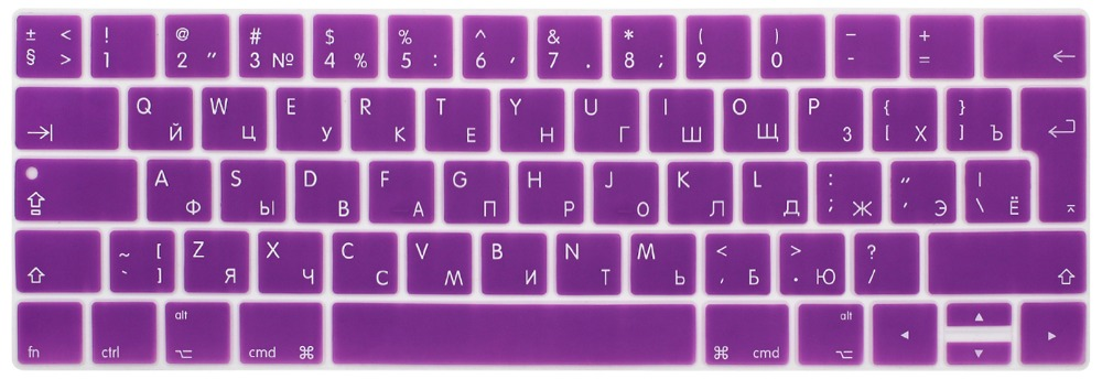 Image 5 - RYGOU EURO Russian Keyboard Stickers for Macbook Pro 13 touch bar Silicone Keyboard Cover for Macbook Pro 15 2016 Skin Protector-in Keyboard Covers from Computer & Office