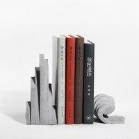 Cement een decoratie van Boekensteunen boekensteun landschap Zen gift industrie wind nieuwe Chinese architectuur model boek