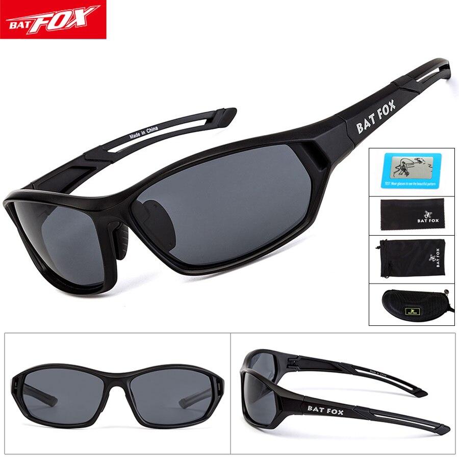 BATFOX Polarized Outdoor Sports Sunglasses Road Cycling Glasses Mountain Road Bike Bicycle Riding MTB Protection Goggles Eyewear
