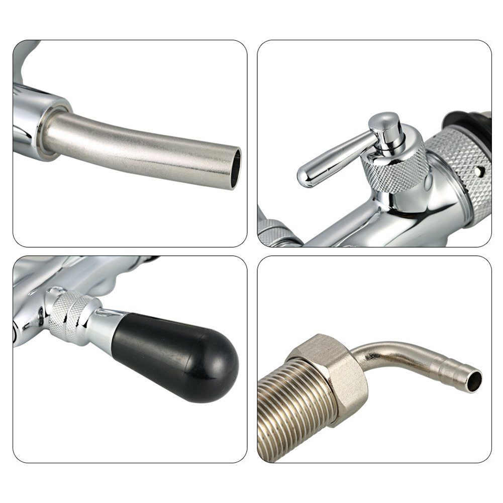 Beer Tap Faucet Adjustable G5/8 Long Shank Chrome Plating Anti-rust Flow Controller MAL999
