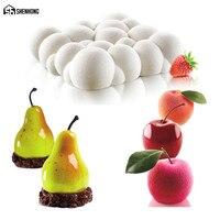 SHENHONG SKY Mây Và Pear Của Apple Mousse Khuôn Art Bánh Khuôn Nướng Bánh Tráng Miệng Silicone 3D Silikonowe Moule Sô Cô La Pan Pastry