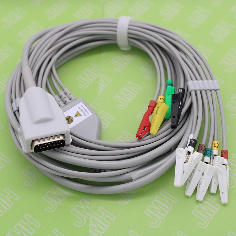 DB15P ECG EKG EMG 10-Lead cable and clip leadwire for Burdick/Quinton/Atria MONITOR,Suitable for VET or ECG planar electrode padDB15P ECG EKG EMG 10-Lead cable and clip leadwire for Burdick/Quinton/Atria MONITOR,Suitable for VET or ECG planar electrode pad