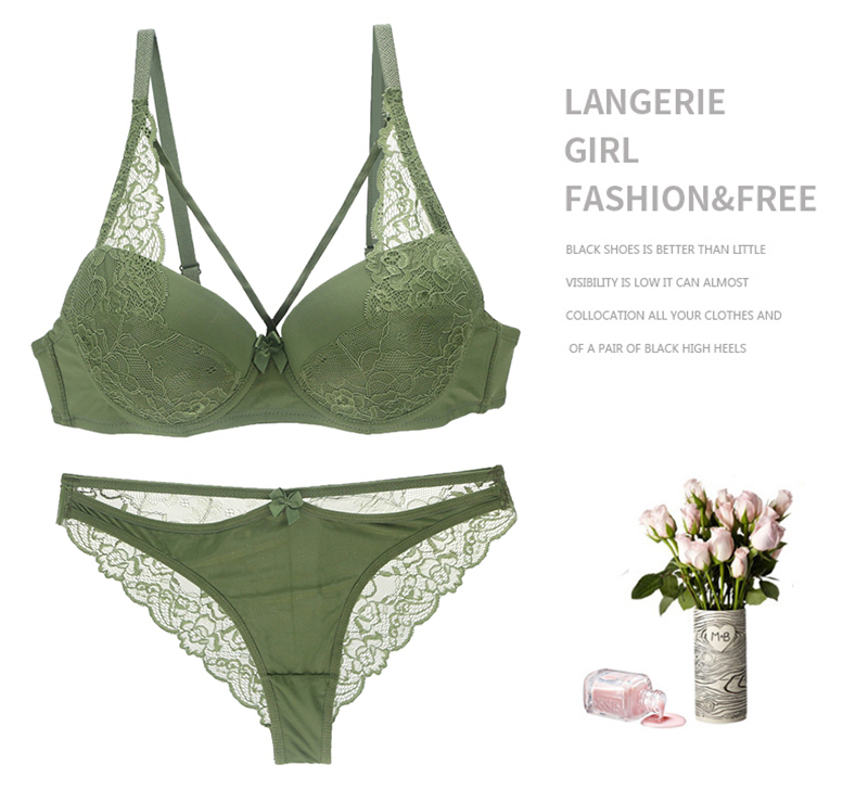 2019 Big Size Strappy Bra Sets Lace Push Up Bra Women Sexy Lace Bra Panty Sets Plus Size 34/75 36/80 38/85 40/90 42 B C D E Cup