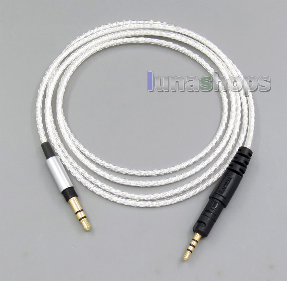 Silver Plated Upgrade DIY Custom Cable Cord for Headphone ATH-M40x ATH-M50x ATH-M70x LN005688 hd650 hd600 hd580 hd525 headphone upgrade cable occ silver plated