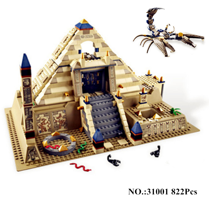 IN STOCK 31001 822Pcs Egypt Pharaoh Series The Scorpion Pyramid Children Educational Building Blocks Bricks lepin Toys Model original gpd win fan accessories